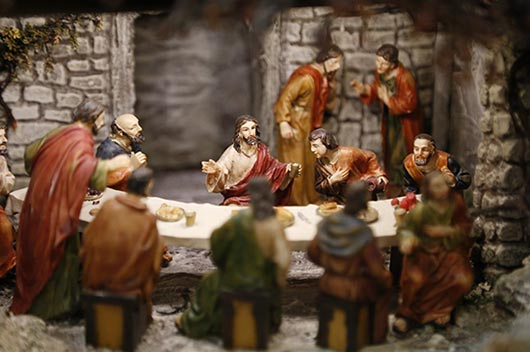 キリストと弟子たちのイメージ写真