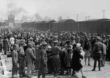 """""""Selection"""" of Hungarian Jews on the ramp at Auschwitz-II-Birkenau in German-occupied Poland, May/June 1944,"""