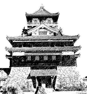 洲城「The castle of Kiyosu in Kiyosu, Aichi, Japan」