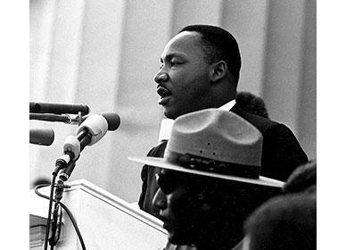 """1963年8月、ワシントン大行進にて、""""I Have a Dream""""の演説"""