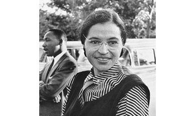 ローザー・パークスPhotograph of Rosa Parks with Dr. Martin Luther King jr. (ca. 1955)