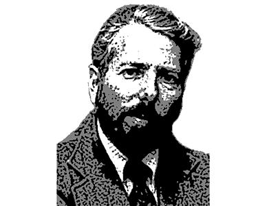 心理学者 スタンレー・ミルグラム(Stanley Milgram)の自画像