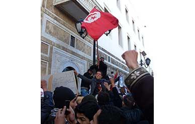 「ジャスミン革命」反政府デモ Anti-government demonstrations during the Tunisian revolution