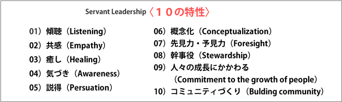 サーバント・リーダーシップ10の特性