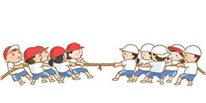 綱引きのイメージ・イラスト