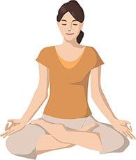 瞑想する人のイメージ画像